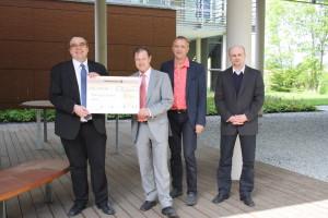 Prof. Dr. Burkhard Utecht, Ralf Spies, Heiko Wendrich und Mike Huster (v.l.)