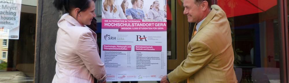 Der Studentenförderverein Gera e.V. startet die Aktion 5000 Studenten für Gera.